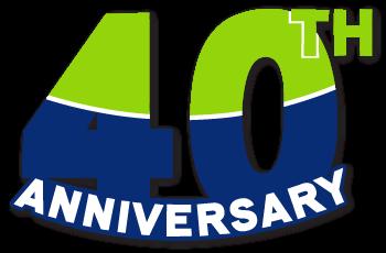 LCCS 40th anniversary logo
